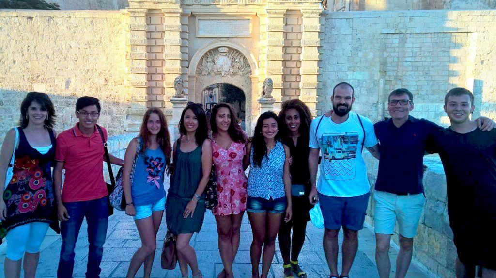 A few happy students who have recently completed a course with our Malta school